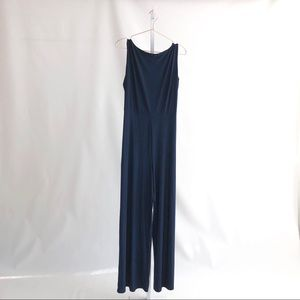 Navy Blue Low Back Jumpsuit